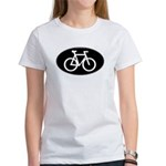 Cycling Oval B&W Women's T-Shirt