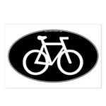 Cycling Oval B&W Postcards (Package of 8)