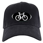 Cycling Oval B&W Black Cap