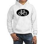 Cycling Oval B&W Hooded Sweatshirt
