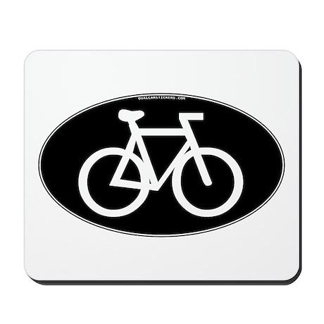 Cycling Oval B&W Mousepad