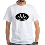 Cycling Oval B&W White T-Shirt