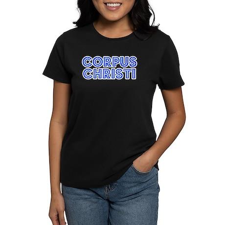 Retro Corpus Christi (Blue) Women's Dark T-Shirt