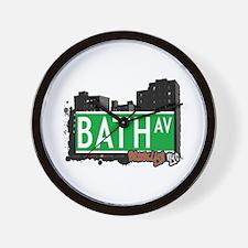 BATH AVENUE, BROOKLYN, NYC Wall Clock