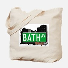 BATH AVENUE, BROOKLYN, NYC Tote Bag