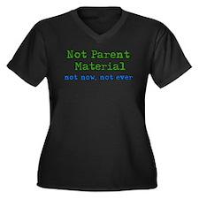 Not Parent Material Women's Plus Size V-Neck Dark
