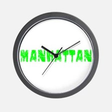 Manhattan Faded (Green) Wall Clock