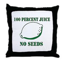 Juice No Seeds Throw Pillow
