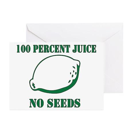 Juice No Seeds Greeting Cards (Pk of 20)