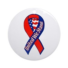United We Stand Ribbon Ornament (Round)