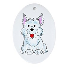 West Highland Terrier Oval Ornament