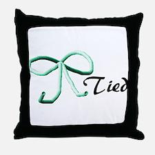 Tubes Tied Throw Pillow