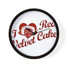 I Love Red Velvet Cake Wall Clock