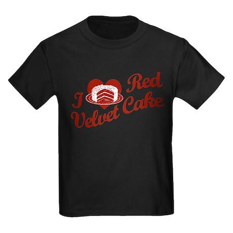 I Love Red Velvet Cake Kids Dark T-Shirt