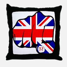 Union Jack Fist 7/7 Throw Pillow