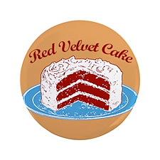 """Retro Red Velvet Cake 3.5"""" Button"""