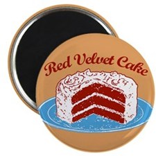 Retro Red Velvet Cake Magnet