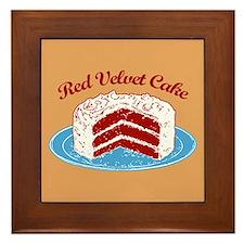 Retro Red Velvet Cake Framed Tile