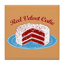 Retro Red Velvet Cake Tile Coaster