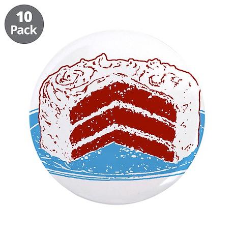 "Red Velvet Cake Graphic 3.5"" Button (10 pack)"