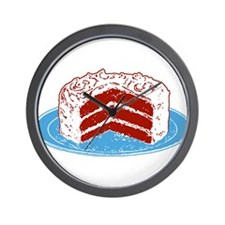 Red Velvet Cake Graphic Wall Clock