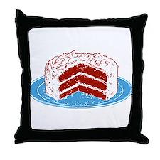 Red Velvet Cake Graphic Throw Pillow