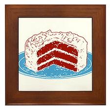 Red Velvet Cake Graphic Framed Tile