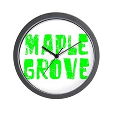 Maple Grove Faded (Green) Wall Clock