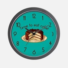 Time To Eat Cake Wall Clock