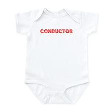 Retro Conductor (Red) Infant Bodysuit