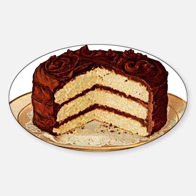 Retro Cake T-shirts Oval Sticker (50 pk)