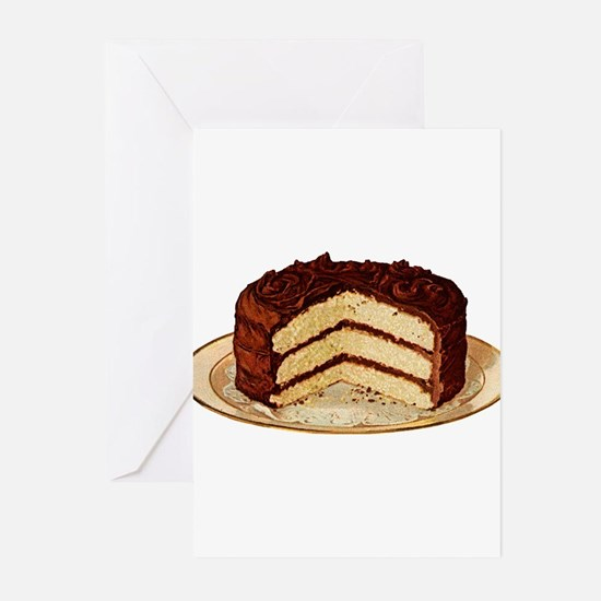 Retro Cake T-shirts Greeting Cards (Pk of 20)