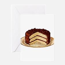 Retro Cake T-shirts Greeting Card