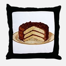 Retro Cake T-shirts Throw Pillow