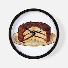 Retro Cake T-shirts Wall Clock