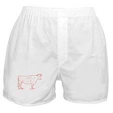 Retro Beef Cut Chart Boxer Shorts