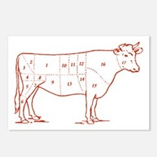 Retro Beef Cut Chart Postcards (Package of 8)