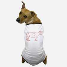 Retro Beef Cut Chart Dog T-Shirt