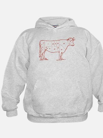 Retro Beef Cut Chart Hoodie
