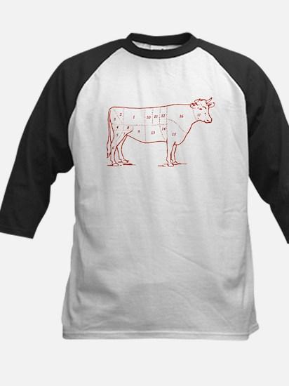 Retro Beef Cut Chart Kids Baseball Jersey