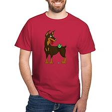 Red Doberman Pinscher T-Shirt