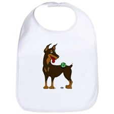 Red Doberman Pinscher Bib