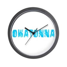 Owatonna Faded (Blue) Wall Clock