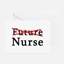 No Longer Future Nurse Greeting Cards (Pk of 10)
