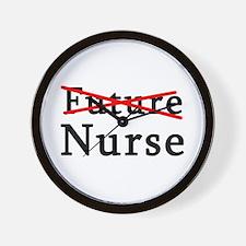 No Longer Future Nurse Wall Clock