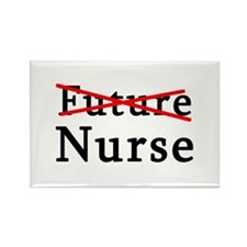 No Longer Future Nurse Rectangle Magnet
