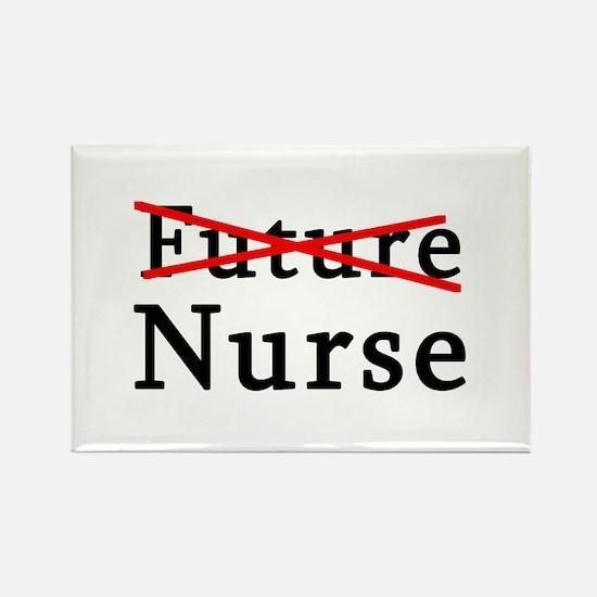 No Longer Future Nurse Rectangle Magnet