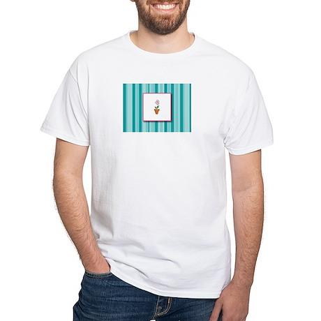 Flower Pot White T-Shirt