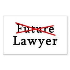 No Longer Future Lawyer Rectangle Decal