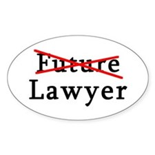 No Longer Future Lawyer Oval Decal